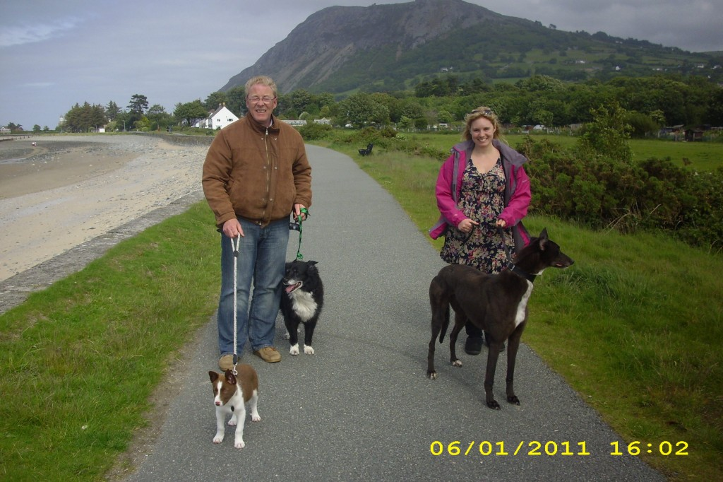 Walking the dogs in Wales with my dad :o)