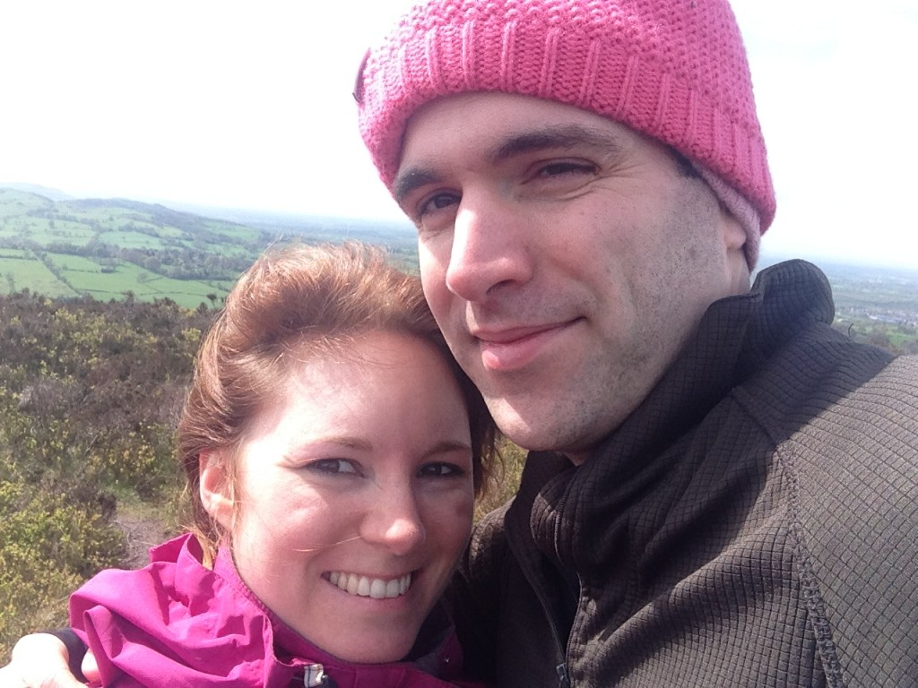 Us on a cold walk in Macclesfield