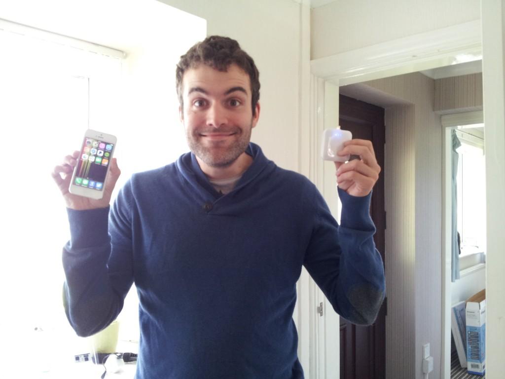 Steve getting iPhone chufties