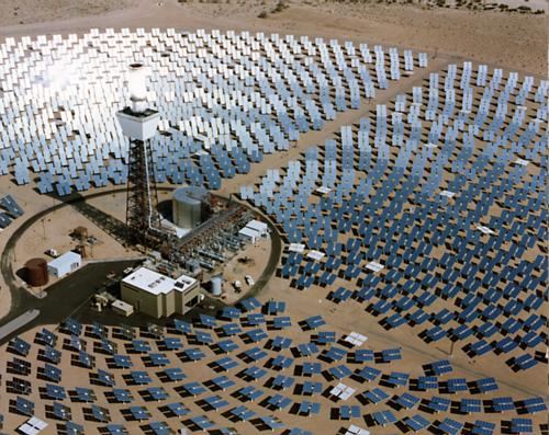 The solar power plant in Mojave Desert, California